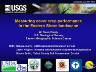Measuring cover crop performance in the Eastern Shore landscape