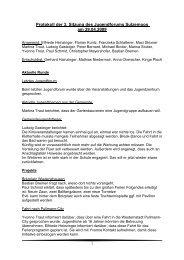Protokoll der 3. Sitzung des Jugendforums Sulzemoos am 29.04.2009