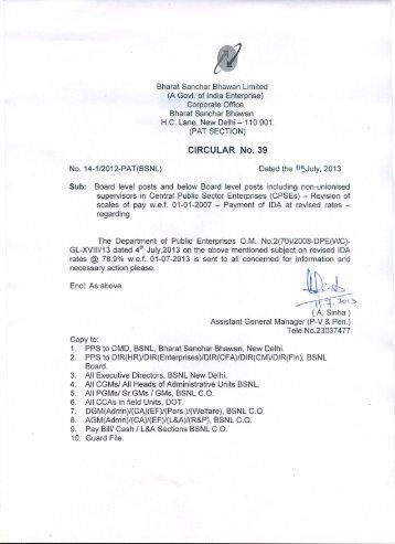 Bharat Sanchar Bhawan Limited - BSNL Employees Union...