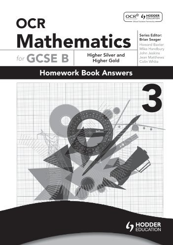 Homework Book 3 answers - Hodder Plus Home
