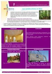 Les constructions en bois - Espace Info Energie Pays de la Loire