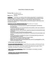 School District Position Description Position Title: Secondary Level ...