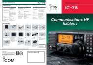 Documentation commerciale IC-78 - Icom France