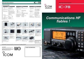 Documentation commerciale IC-78 - Icom France