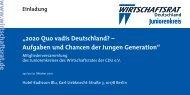 Einladung Juniorentag 2010 - Wirtschaftsrat der CDU e.V.