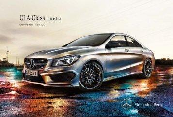 CLA-Class price list - Mercedes-Benz