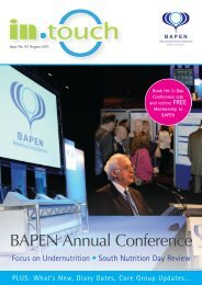 In Touch bapen - pg10_11.pdf - Focus on Undernutrition