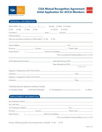 Initial Application Form - Certified General Accountants Association ...