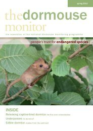 The Dormouse Monitor Spring 2011 - People's Trust for Endangered ...