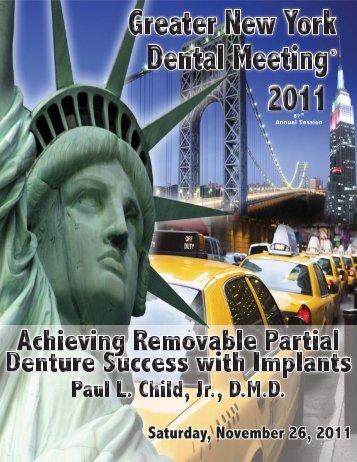 Saturday, November 26, 2011 - Greater New York Dental Meeting
