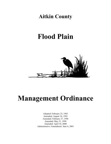 Floodplain Management Ordinance - Aitkin County Government