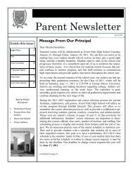 Jan 2011.pdf - Forest Park High School - Prince William County ...