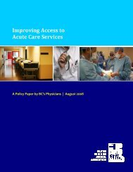 Improving Access to Acute Care Services - British Columbia Medical ...