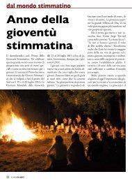 Anno della gioventù stimmatina dal mondo stimmatino - Stimmatini