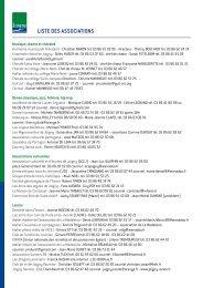 Liste des associations - Joigny