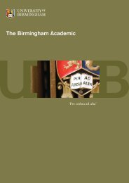 The Birmingham Academic - University of Birmingham