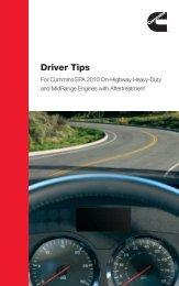 Driver Tips - Cummins Engines