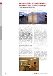 Energieeffizienz von Gebäuden: Rosenheim ist Vize-Weltmeister