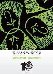 10 jaar Grundtvig, Europees programma voor ... - Epos
