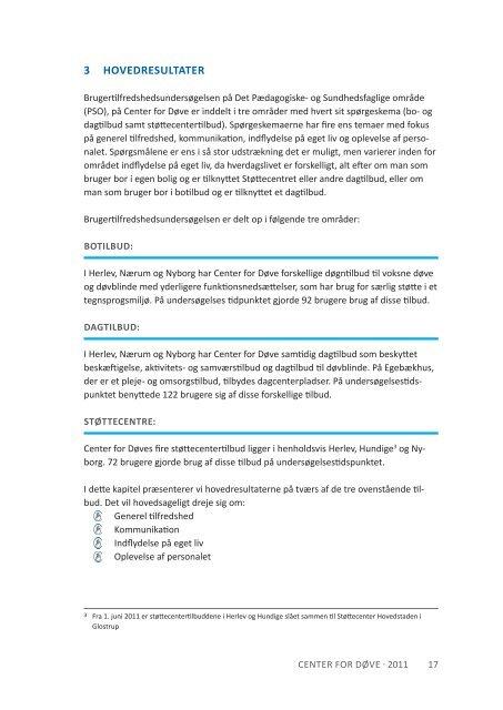 Download rapporten Brugerne har ordet som pdf - Center for døve