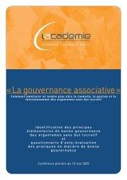 Gouvernance associative - Ordre des experts-comptables de Paris ...