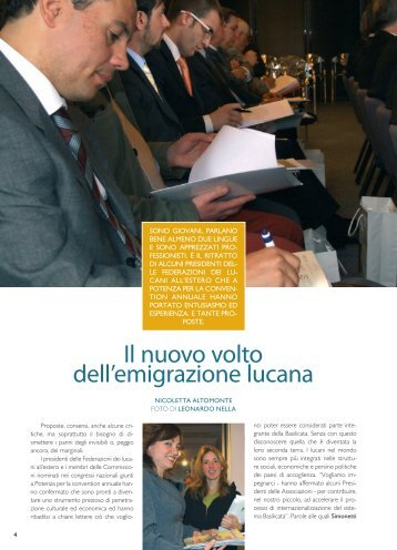 Il nuovo volto dell'emigrazione lucana - Consiglio Regionale della ...
