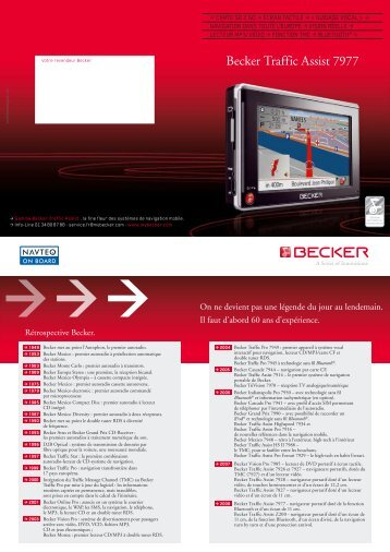 Becker Traffic Assist 7977 - Intervalle