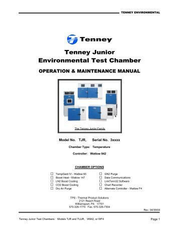 Tenney Junior Environmental Test Chamber - MHz Electronics, Inc