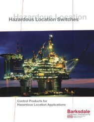 Barksdale Products for Hazardous Locations - Industrial Controls
