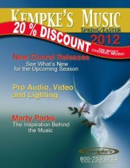 all prices in this catalog are subject to change - Kempke's Music ...