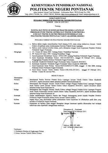 Listrik & Elektronika - Politeknik Negeri Pontianak
