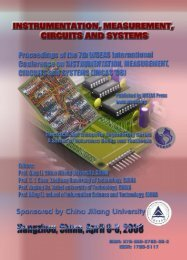 INSTRUMENTATION, MEASUREMENT, CIRCUITS AND ... - WSEAS