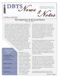 fall-winter 2005-2006.indd - Detroit Baptist Theological Seminary