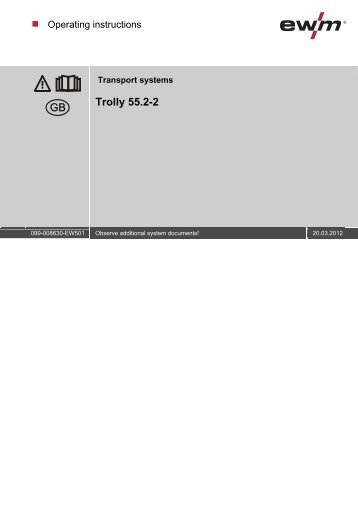 Trolly 55.2-2 - EWM Hightec Welding GmbH