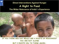 Direct Interventions against Hunger: Right to Food - Subregional ...