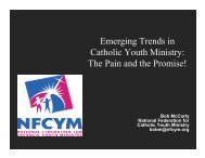 Emerging Trends in Catholic Youth Ministry: The Pain and ... - NCCL