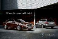 E-Klasse Limousine und T-Modell. - Mercedes-Benz Magyarország