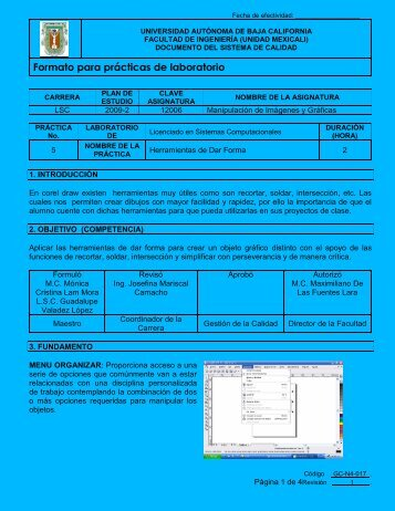 Práctica # 5 - Licenciado en Sistemas Computacionales