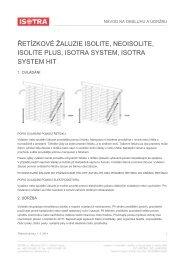 Návod na ovládání a údržbu řetízkové žaluzie - Isotra