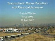 Personal Ozone Monitor - University of Colorado at Boulder