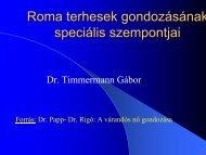 Roma terhesek - Dr. Timmermann Gábor