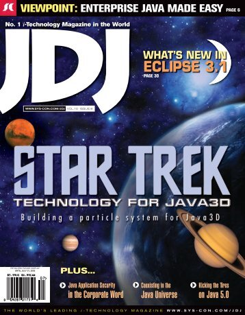 JDJ 10-6.indd - sys-con.com's archive of magazines - SYS-CON Media