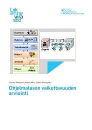 Ohjelmatason vaikuttavuuden arviointi - Liikennevirasto