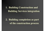 1. Building Construction and Building Services integration 2 ...