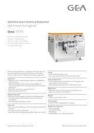 GEA Niro Soavi One75TF Tech Sheets ENG Rev 07 2013 Flash ...