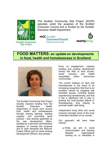 Food Matters Issue 1 - Community Food and Health