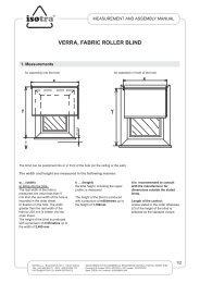 Installation Roller blinds Verra - Isotra