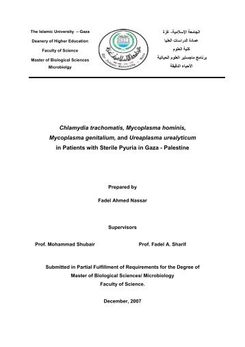 Chlamydia trachomatis, Mycoplasma hominis, Mycoplasma ...
