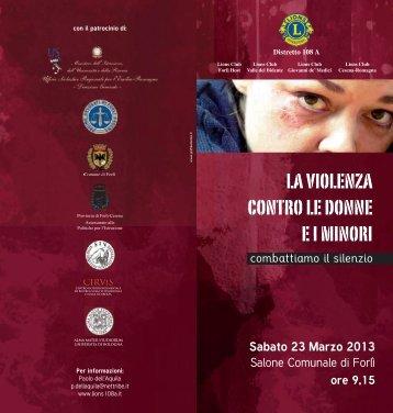 la violenza contro le donne e i minori - Vittimologia