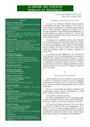 Mercredi 25 septembre 2002 - Académie des sciences morales et ...